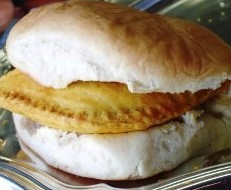 Famous Jamaican Patty and Coco Bread.  Coco bread goes well with jamaican beef patties, chicken patties, vegetable patties, shrimp patties, or soya patties.  You decide which Jamaican patty you'll wrap into a soft, buttery coco bread.  Jamaican food.  Jamaican culture.  Caribbean food.  Sam's Caribbean Marketplace.