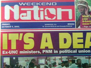 BARBADOS WEEKEND NATION NEWSPAPER (13 Weeks) 