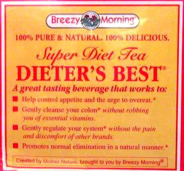 BREEZY MORNING DIETERS BEST TEA BAGS 