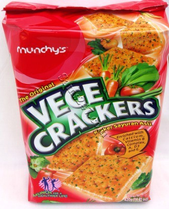 MUNCHY'S VEGE CRACKERS 14.81 OZ 