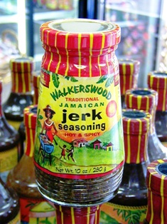 Hot and spicy Walkerswood Jerk Seasoning.  This is the Mother of all Jerk Seasonings.  Jamaican food.  Caribbean food. Hot and spicy.  Jerk seasoning.  Caribbean islands. Caribbean products.  West Indian food.   Caribbean online store.