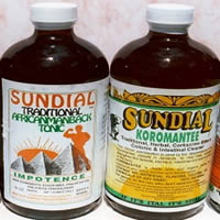 Sundial Karomantee and Sundial African Manback Tonics.  We have a wide range of Jamaican woodroot and Jamaican roots tonics.