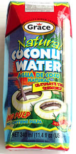 GRACE NATURAL COCONUT WATER 11 OZ.